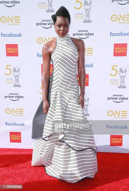 Danai Gurira attends the 50th NAACP Image Awards at Dolby Theatre on March 30 2019 in Hollywood California