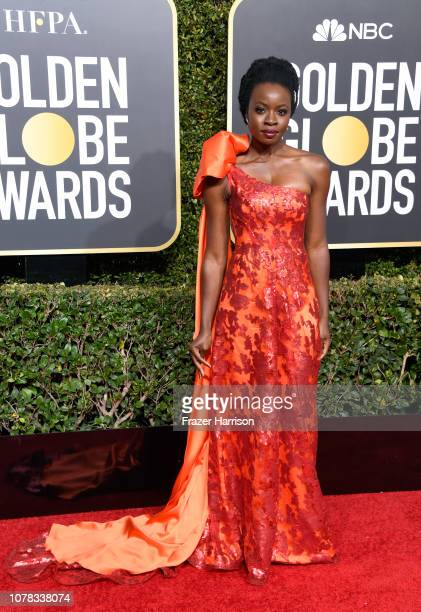 Danai Gurira attends the 76th Annual Golden Globe Awards at The Beverly Hilton Hotel on January 6 2019 in Beverly Hills California