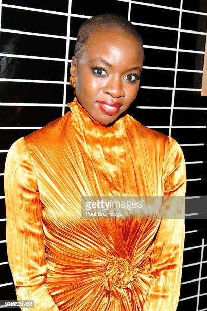 Danai Gurira attends The Cinema Society with Ravage Wines Synchrony host the after party for Marvel Studios' 'Black Panther' at The Skylark on...