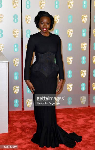 Danai Gurira attends the EE British Academy Film Awards at Royal Albert Hall on February 10 2019 in London England