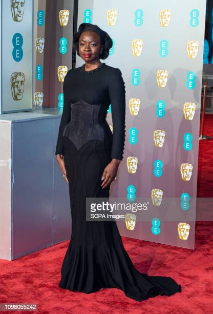 Danai Gurira attends the EE British Academy Film Awards at the Royal Albert Hall London