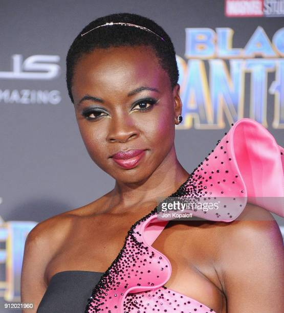 Danai Gurira attends the Los Angeles Premiere 'Black Panther' at Dolby Theatre on January 29 2018 in Hollywood California