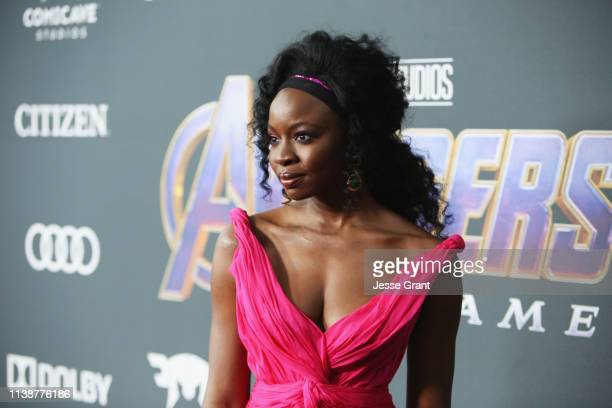 Danai Gurira attends the Los Angeles World Premiere of Marvel Studios' Avengers Endgame at the Los Angeles Convention Center on April 23 2019 in Los...