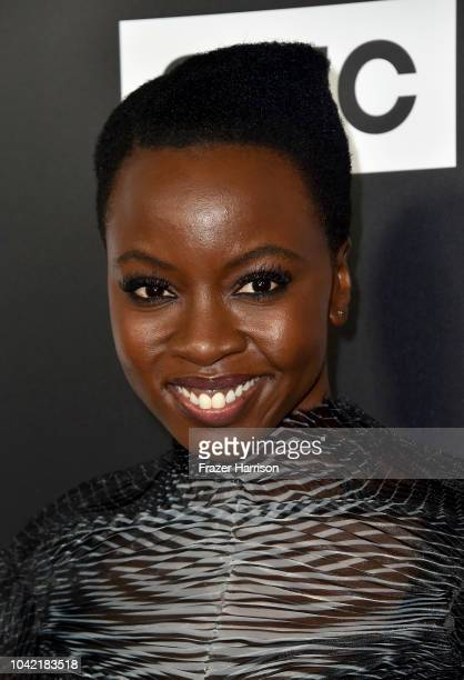 """Danai Gurira attends the Premiere of AMC's """"The Walking Dead"""" Season 9 at DGA Theater on September 27, 2018 in Los Angeles, California."""