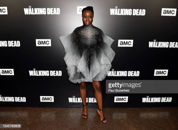 Danai Gurira attends the premiere of AMC's The Walking Dead season 9 at DGA Theater on September 27 2018 in Los Angeles California