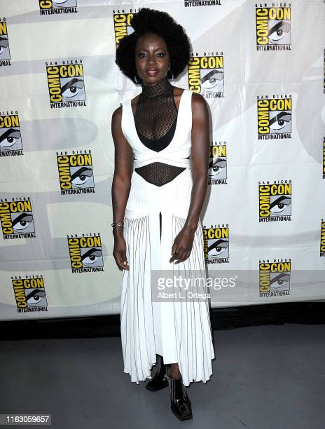 Danai Gurira attends the The Walking Dead Panel during 2019 ComicCon International at San Diego Convention Center on July 19 2019 in San Diego...