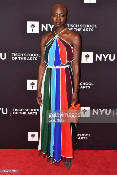 Danai Gurira attends the Tisch School Gala 2017 at Cipriani 42nd Street on April 3 2017 in New York City