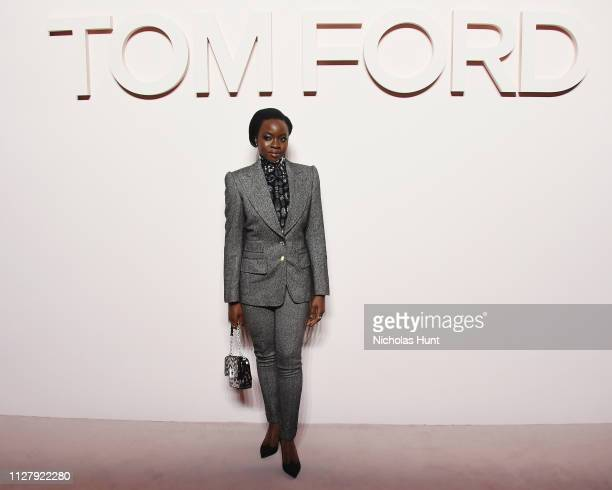 Danai Gurira attends the Tom Ford FW 2019 Arrivals during New York Fashion Week The Shows on February 06 2019 in New York City