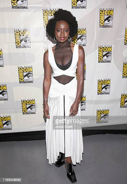Danai Gurira attends The Walking Dead Panel at Comic Con 2019 on July 19 2019 in San Diego California