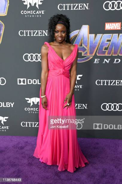 "Danai Gurira attends the world premiere of Walt Disney Studios Motion Pictures ""Avengers: Endgame"" at the Los Angeles Convention Center on April 22,..."