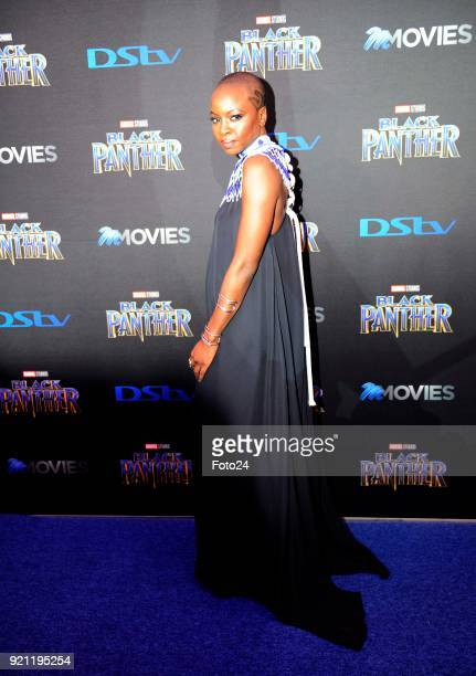 Danai Gurira during the Black Panther movie premiere at Montecasino on February 16 2018 in Fourways South Africa Your culture in South Africa...