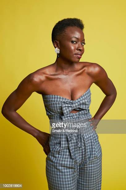 Danai Gurira from AMC Networks 'The Walking Dead' poses for a portrait at the Getty Images Portrait Studio powered by Pizza Hut at San Diego 2018...
