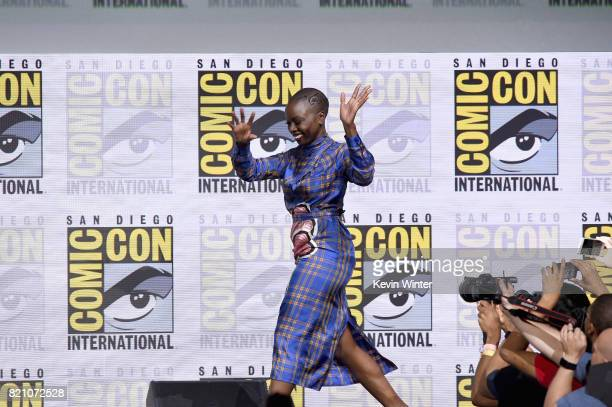 Danai Gurira from 'Black Panther' attends the Marvel Studios Presentation during ComicCon International 2017 at San Diego Convention Center on July...