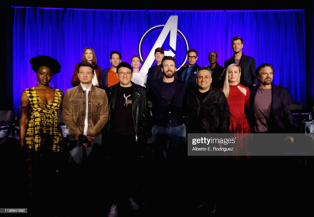 "Marvel Studios' ""Avengers: Endgame"" Global Junket Press Conference : News Photo"