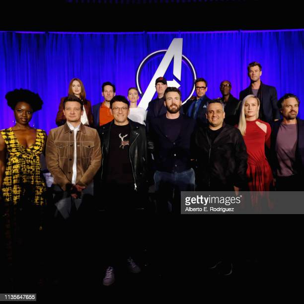 Danai Gurira Jeremy Renner Director Anthony Russo Chris Evans Director Joe Russo Brie Larson and Mark Ruffalo Karen Gillan Paul Rudd Scarlett...