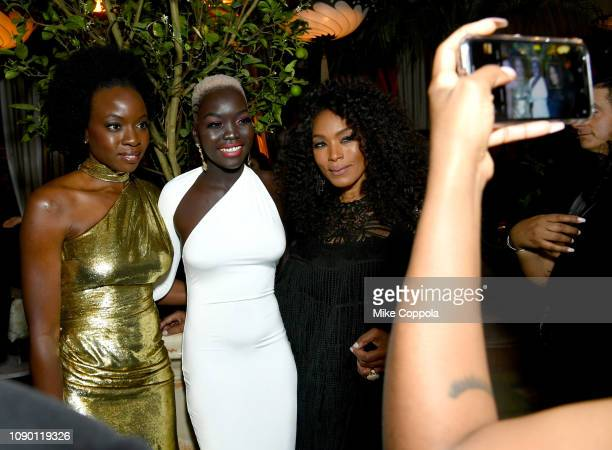 Danai Gurira, Nyakim Gatwech, and Angela Bassett attend Entertainment Weekly Celebrates Screen Actors Guild Award Nominees sponsored by L'Oreal...