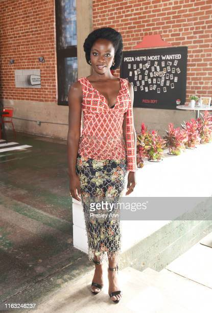 Danai Gurira of 'The Walking Dead' attends the Pizza Hut Lounge at 2019 ComicCon International San Diego on July 20 2019 in San Diego California