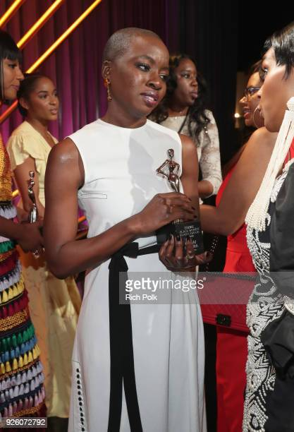 Danai Gurira onstage during the 2018 Essence Black Women In Hollywood Oscars Luncheon at Regent Beverly Wilshire Hotel on March 1 2018 in Beverly...