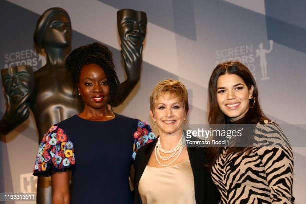 Danai Gurira, SAG-AFTRA President Gabrielle Carteris and America Ferrera attend the 26th Annual Screen Actors Guild Awards Nominations Announcement...
