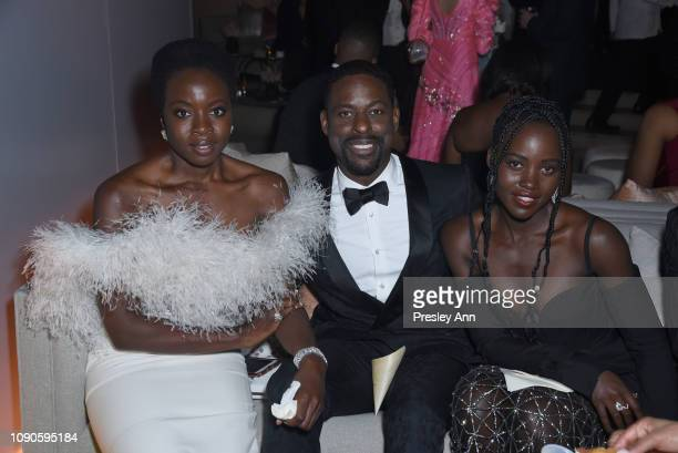 Danai Gurira Sterling K Brown and Lupita Nyong'o attend Netflix 2019 SAG Awards after party at Sunset Tower Hotel on January 27 2019 in West...