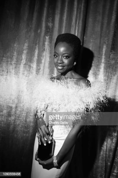 Danai Gurira winner of Outstanding Performance by a Cast in a Motion Picture for 'Black Panthe' poses in the press room the 25th Annual Screen...