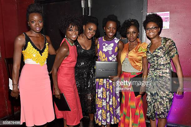 Danai Gurira Zainab Jah Saycon Sengbloh Lupita Nyong'o Akosua Busia and Pascale Armand attend the 61st Annual Obie Awards at Webster Hall on May 23...