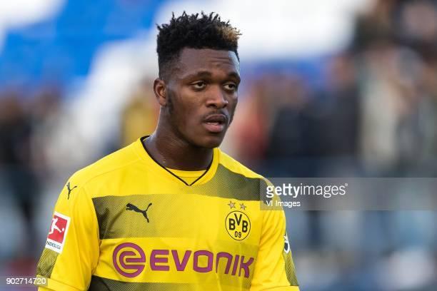 DanAxel Zagadou of Borussia Dortmund during the friendly match between Borussia Dortmund and Zulte Waregem at the Estadio Municipal Marbella on...