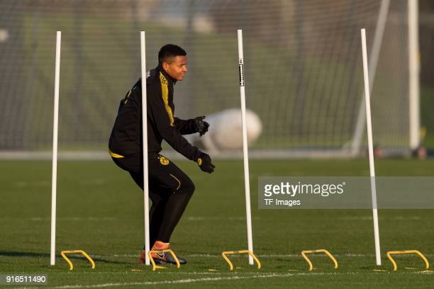 DanAxel Zagadou of Dortmund in action during a training session at BVB trainings center on February 05 2018 in Dortmund Germany