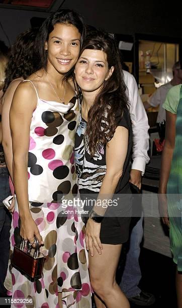 Danay Garcia and Marisa Tomei during Danika Wrap Party at Rokbar at Rokbar in Hollywood California United States
