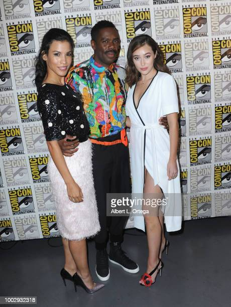 Danay Garcia Colman Domingo and Alycia DebnamCarey attend AMC's 'Fear The Walking Dead' panel during ComicCon International 2018 at San Diego...
