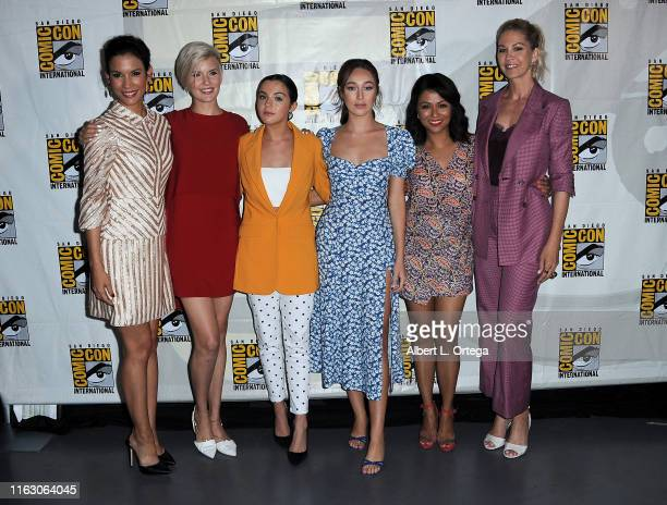 Danay Garcia Maggie Grace Alexa Nisenson Alycia DebnamCurry Karen David andJenna Elfman attend the Fear The Walking Dead Panel during 2019 ComicCon...