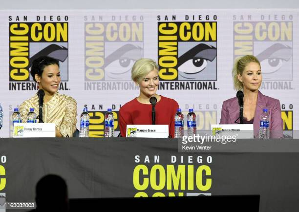 Danay Garcia Maggie Grace and Jenna Elfman speak at the Fear The Walking Dead Panel during 2019 ComicCon International at San Diego Convention Center...