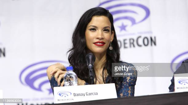 Danay Garcia speaks onstage during the Wondercon Fear the Walking Dead panel at Anaheim Convention Center on March 31 2019 in Anaheim California