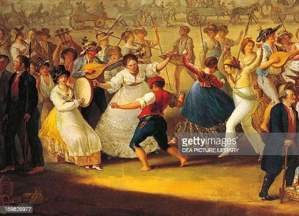 Dance and music at the popular Neapolitan festival of Madonna Dell'Arco Italy 18th century Naples Museo Nazionale Di San Martino