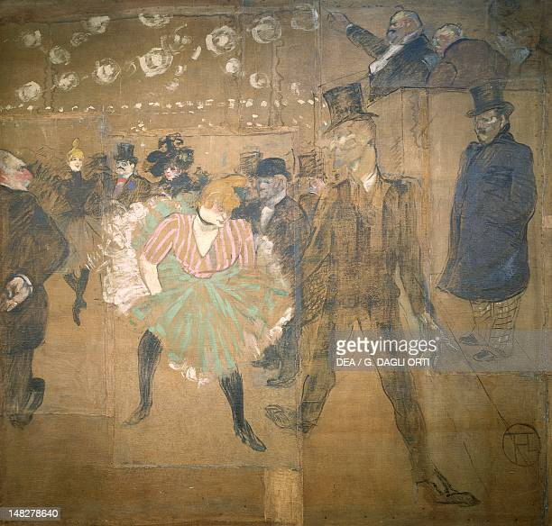 Dance at the Moulin Rouge by Henri de Toulouse Lautrec Detail of the panel for the sideshow of La Goulue at the Foire du Trone in Paris oil on canvas...