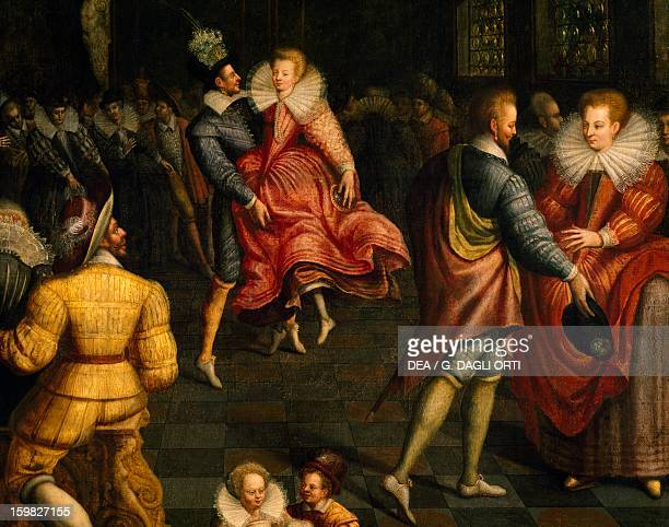 Dance at Valois court ca 1580 painting by the French school France 16th century Detail Rennes Musée Des BeauxArts