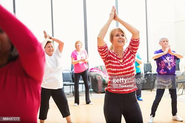 Dance class at senior center