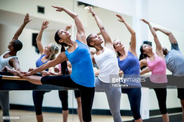 dance class - dance studio stock pictures, royalty-free photos & images