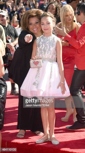 Dance Coach Abby Lee Miller and Dancer Maddie Ziegler attend the 2014 MTV Video Music Awards at The Forum on August 24 2014 in Inglewood California
