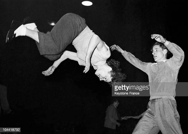 Dance Couple During The Finals Of The Jitterbug Championship In Berlin On January 16 1952