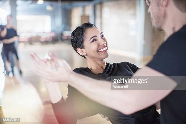 Dance couple in studio