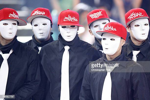 Dance crew Jabbawockeez at Randy Jackson presents America's Best Dance Crew on February 5 2008 in Los Angeles California
