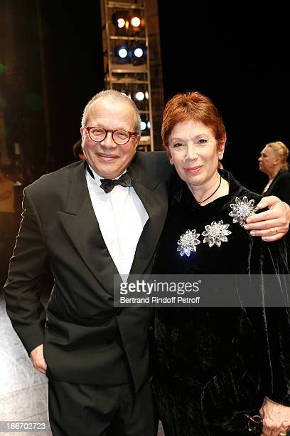 Dance Director of the 'Opera de Paris' Brigitte Lefevre and her husband Olivier Meyer attend Tricentenary of the French dance school AROP Gala at...
