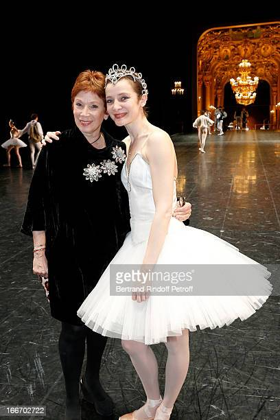 Dance Director of the 'Opera de Paris' Brigitte Lefevre and Star Dancer of Opera de Paris Agnes Letestu on stage while Tricentenary of the French...