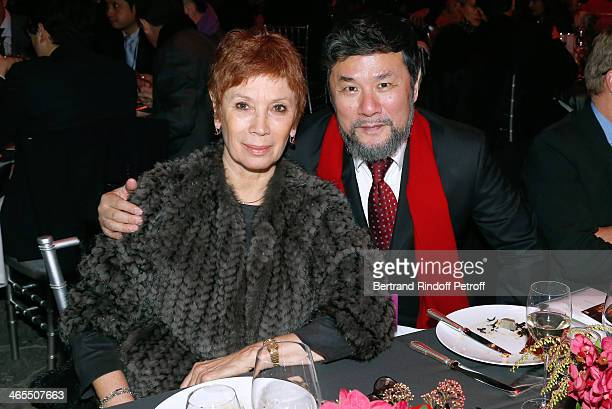Dance Director of the 'Opera de Paris' Brigitte Lefevre and Weiya Chen attend the 'Nuit De La Chine' Opening Night at Grand Palais on January 27 2014...