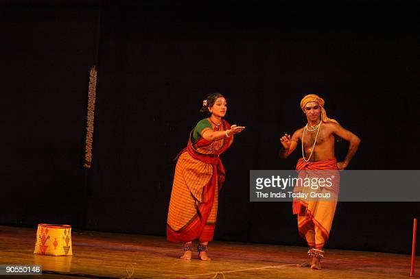 Dance Drama by Aradhana Dance Troupe performing at Naradhaghana Sabha During the Festival in Chennai Tamil Nadu India