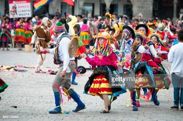 Dance Festival In Cuzco Peru