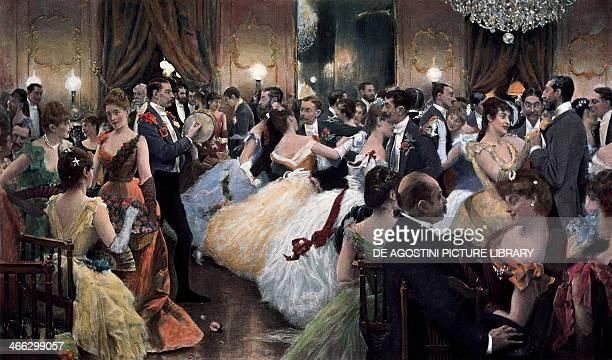 Dance hall painting by Julius LeBlanc Stewart