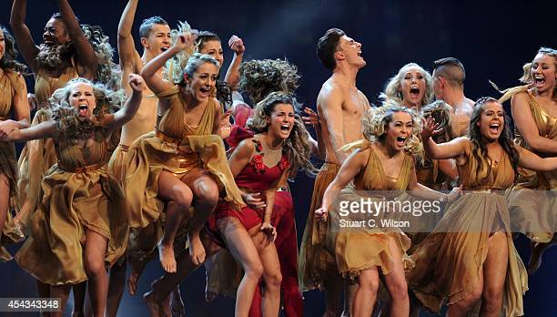 """Dance Illusion' are announced as one of three finalists during the live final of 2014's """"Got To Dance"""" at Earls Court on August 29, 2014 in London,..."""