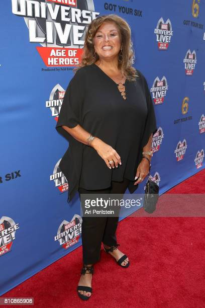Dance Instructor Abby Lee Miller arrives at Marvel Universe LIVE Age Of Heroes World Premiere Celebrity Red Carpet Event at Staples Center on July 8...